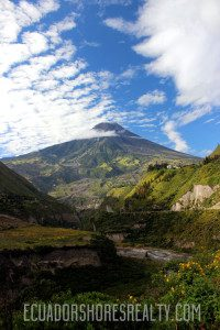 Tunguragua Volcano View